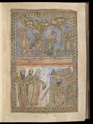 The Annunciation to the Shepherds and The Magi Before Herod, in The Winchester Psalter